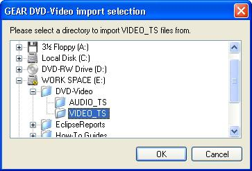 Video Import Selection