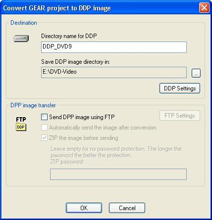 Convert GEAR Project to DDP Image