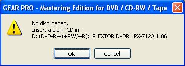 No disc loaded