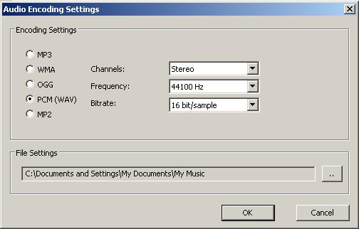 Audio Ripping Settings