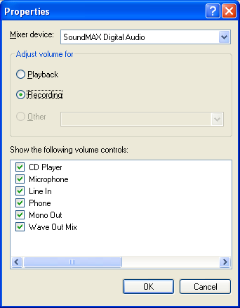 How to change volume for video capture on obs